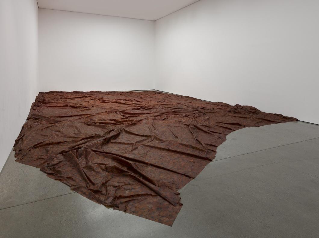 """Doris Salcedo, """"A flor de piel,"""" 2014. Rose petals and thread. Variable dimensions."""