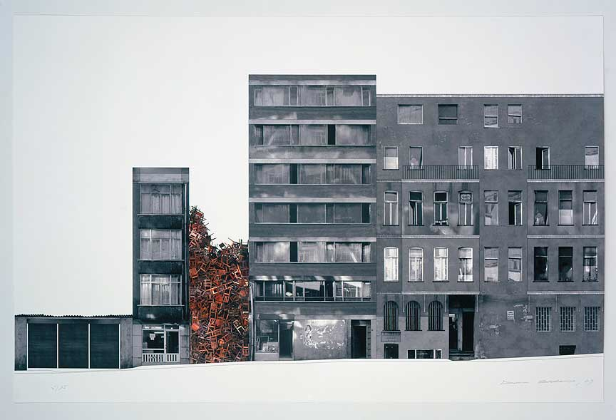 "Doris Salcedo, ""Istanbul Project II,"" 2003. Piezo-pigment on Hahnemühle german etching paper; 24 1/2 x 37 1/4 inches. Edition of 35."