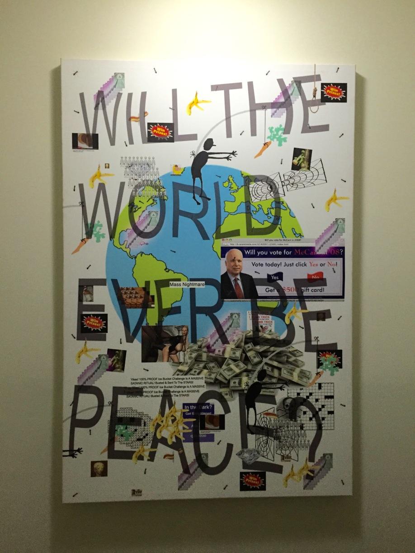 Peace, 2014, digital Canvas print, by Ben Quinn