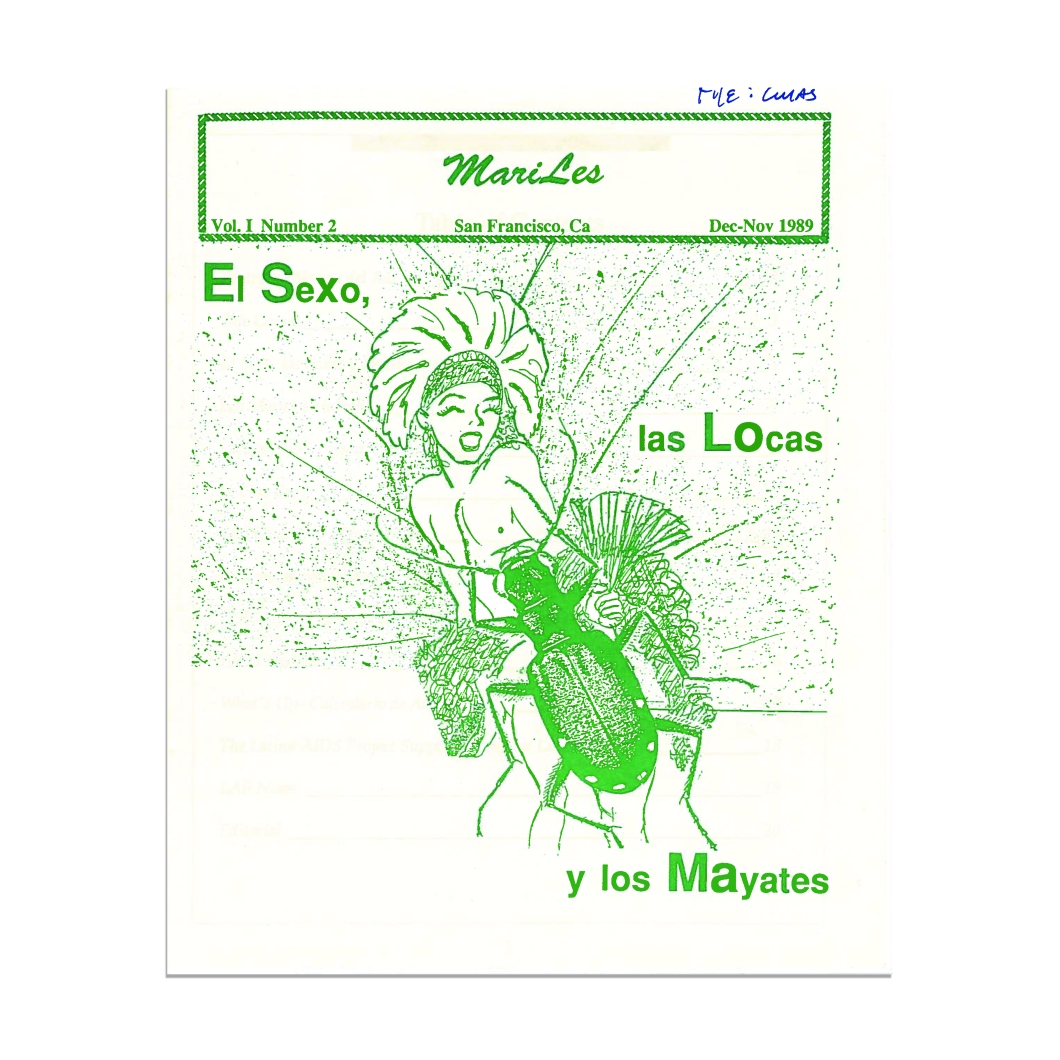 1989, Cover of MariLes queer Latinx zine, Courtesy of GLBT Historical Society