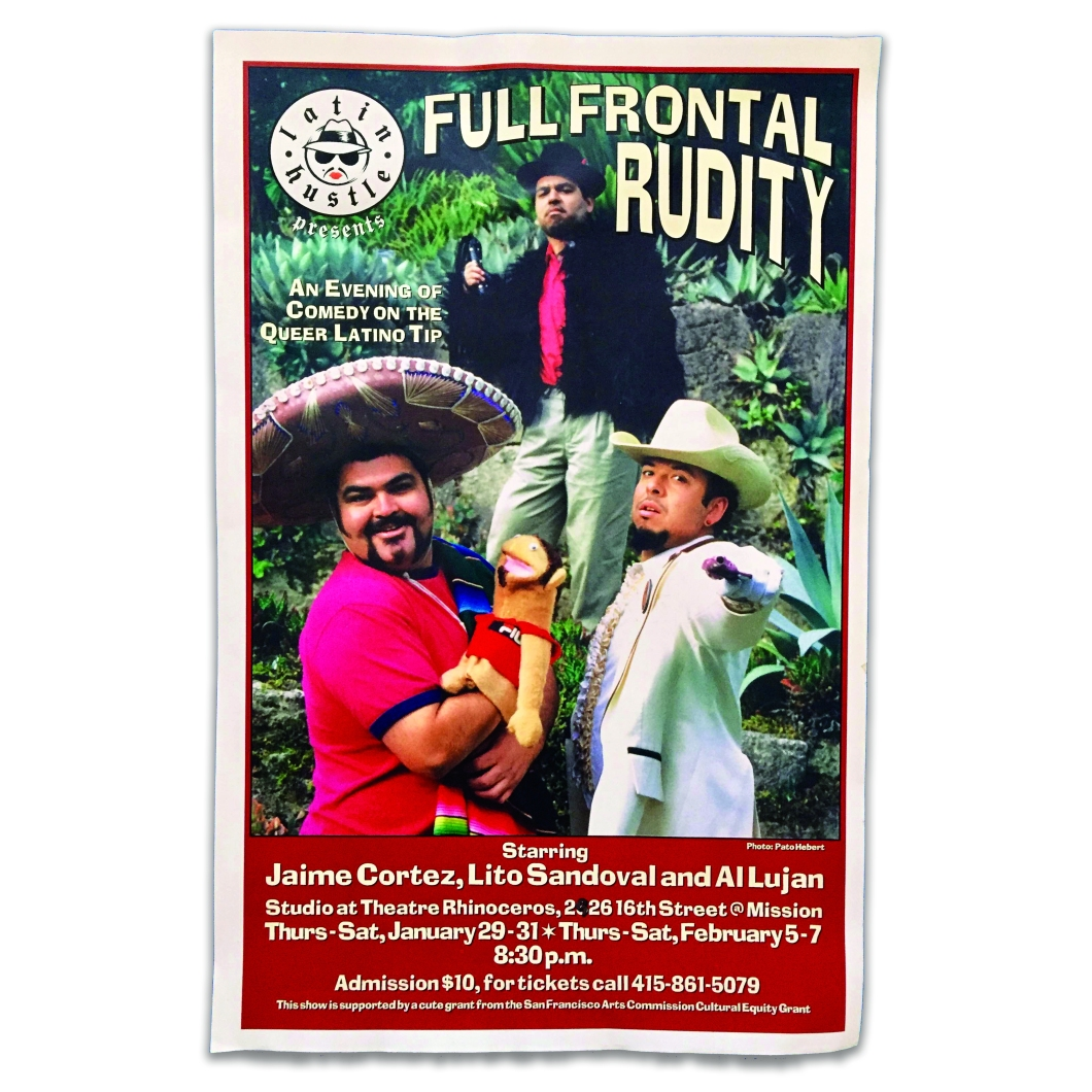 1990's, Detail of poster for Full Frontal Rudity, Theatre Rhinoceros, Courtesy of Lito Sandoval
