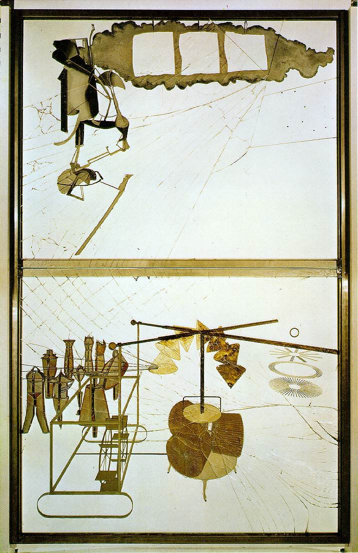 Marcel Duchamp, The Bride Stripped Bare by Her Bachelors, Even (La mariée mise à nu par ses célibataires, même), most often called The Large Glass (Le Grand Verre), 1915-23